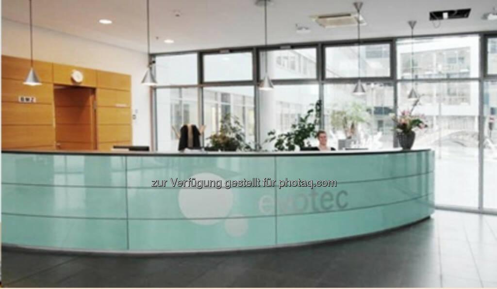 Eingangsbereich Evotec Firmenzentrale Hamburg, © Evotec (Jänner 2014) (20.01.2014)