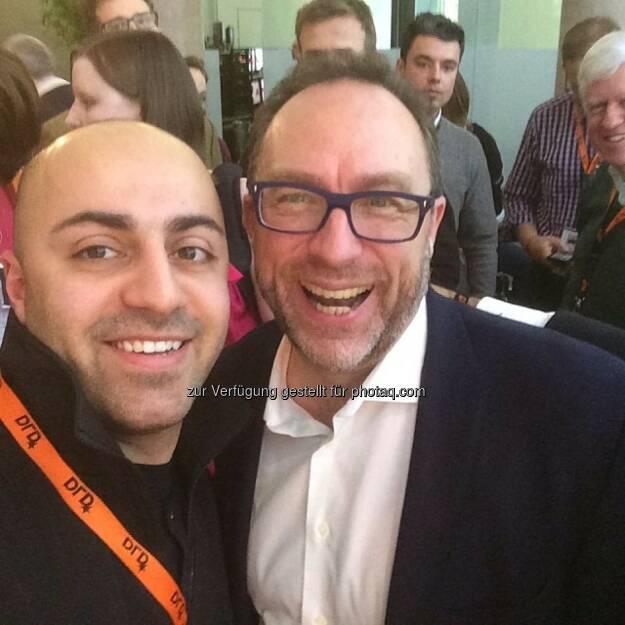 Ali Mahlodji und Jimmy Wales, Gründer Wikipedia, auf der DLD (Digital-Life-Design), © Ali Mahlodji (20.01.2014)