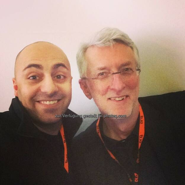 Ali Mahlodji und Jeff Jarvis, BuzzMachine, auf der DLD (Digital-Life-Design), © Ali Mahlodji (20.01.2014)