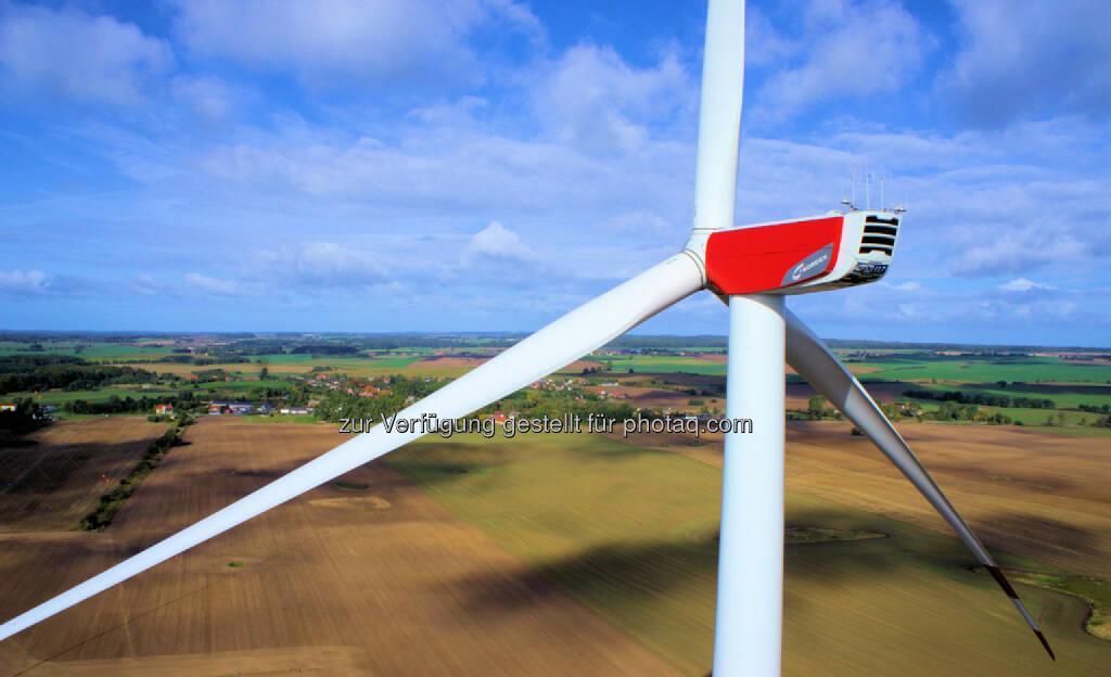 N117/2400 Gamma (2,4 MW) Windenergieanlage auf 141 Meter Hybridturm, © Nordex SE  (21.01.2014)