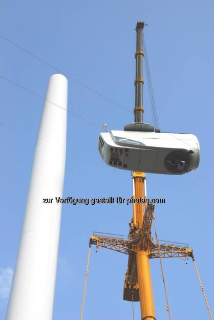 Aufbau einer Windenergieanlage, © Nordex SE  (21.01.2014)