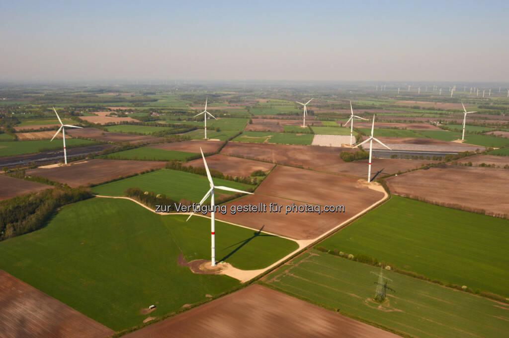 Nordex N100 gamma im Windpark Wiemersdorf in Schleswig-Holstein., (c) Foto: Jan Oelker / Nordex, jan.oelker@gmx.de, © Nordex SE  (21.01.2014)
