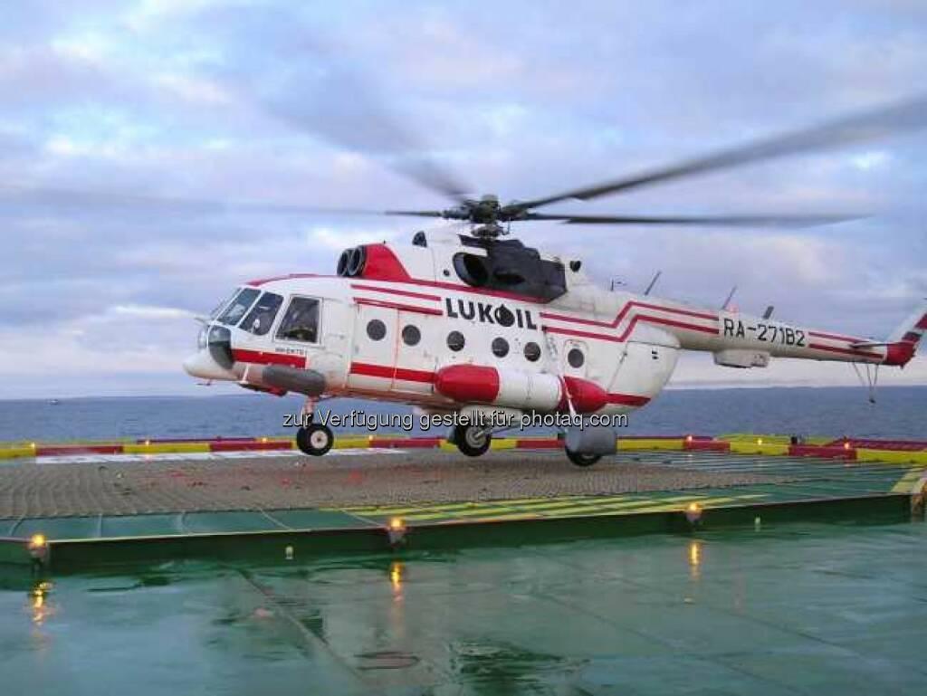 Hubschrauber, Lukoil, © Lukoil (Homepage) (22.01.2014)