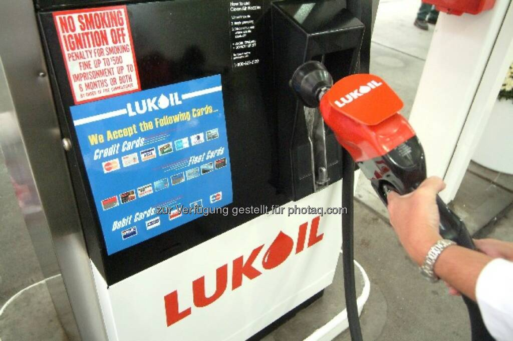 Zapfhahn, Lukoil Tankstelle, © Lukoil (Homepage) (22.01.2014)