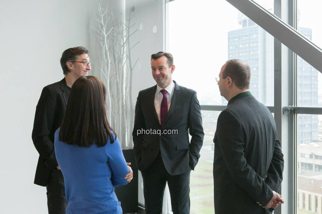 Josef Chladek, Gerhard Kürner (voestalpine), Paul Rettenbacher (THI), Stephanie Bauer (voestalpine), © finanzmarktfoto.at/Martina Draper (24.01.2014)