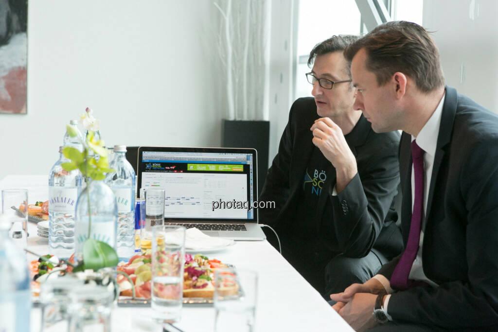 Josef Chladek, Gerhard Kürner (voestalpine), © finanzmarktfoto.at/Martina Draper (24.01.2014)