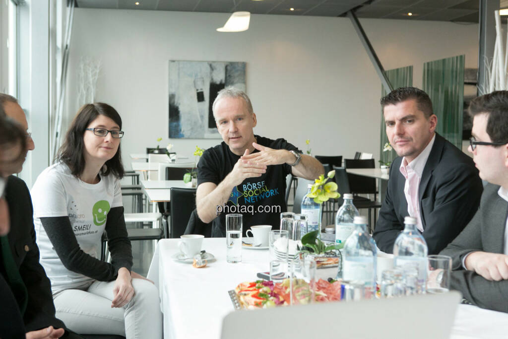Susanne Trhal (Team sisu), Christian Drastil, Franz Ömer (bet-at-home.com), Klaus Fahrnberger (bet-at-home.com), © finanzmarktfoto.at/Martina Draper (24.01.2014)
