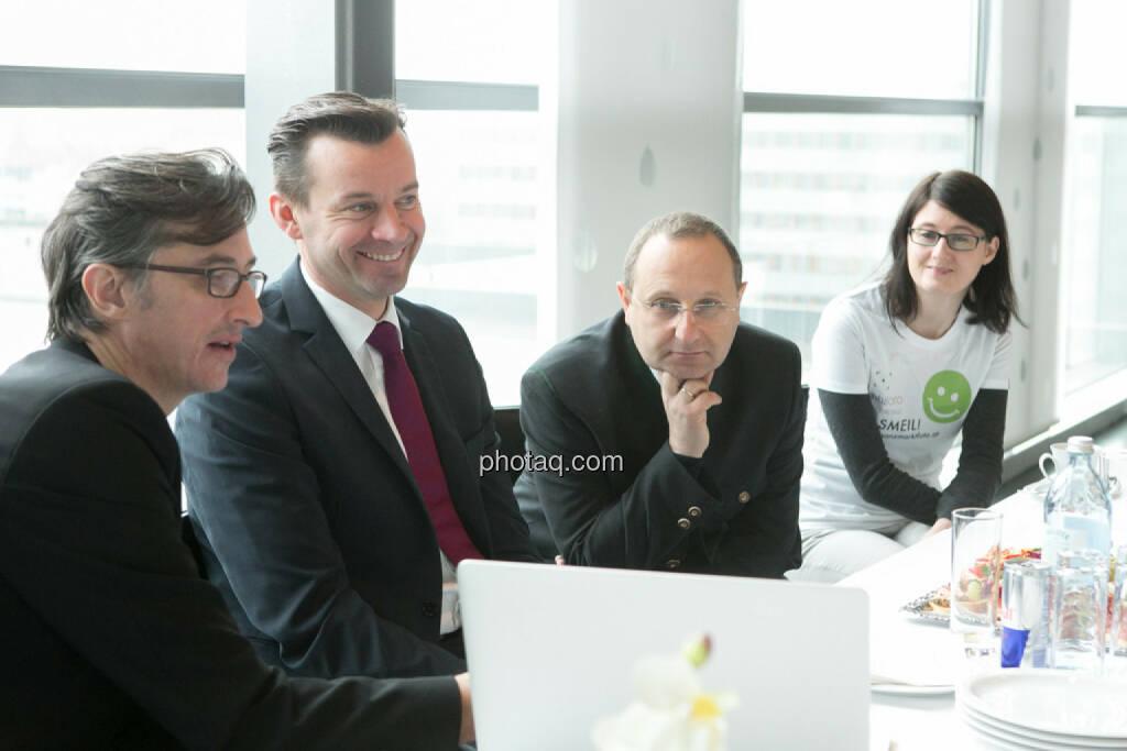 Josef Chladek, Gerhard Kürner (voestalpine), Paul Rettenbacher (THI), Susanne Trhal (Team sisu), © finanzmarktfoto.at/Martina Draper (24.01.2014)