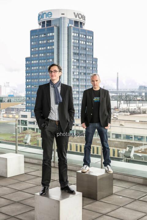 Josef Chladek, Christian Drastil - aus finanzmarktfoto.at wird http://www.photaq.com , Partner ist voestalpine