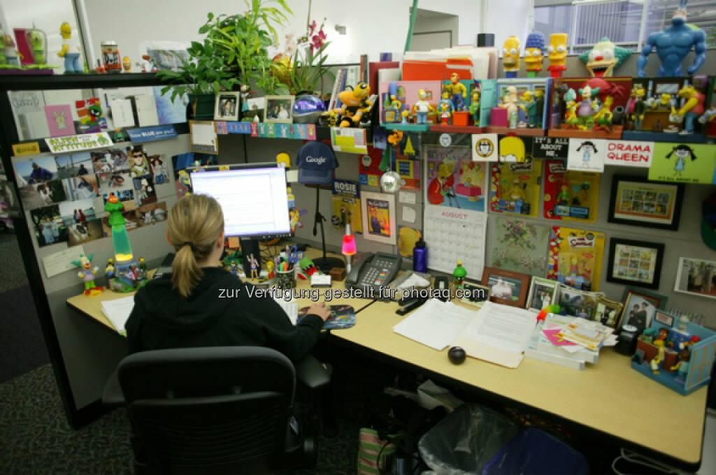 Arbeitsbereich im Google Hauptsitz in Mountain View, © Google (Homepage) (25.01.2014)
