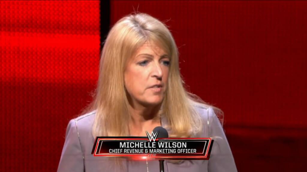 Michelle Wilson (Chief Revenue & Marketing Officer WWE), WWE-Inc.  (Screenshots Film Homepage), © WWE-Inc.   (26.01.2014)