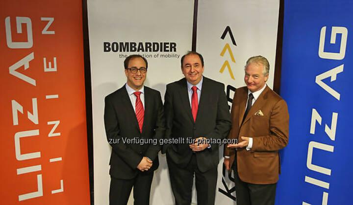 Germar Wacker (Bombardier), Erich Haider (Linz AG), Kari Kapsch (Kapsch CarrierCom)