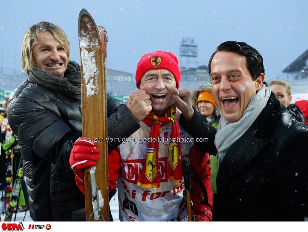 Sporthilfe Charity Race. Bild zeigt Leo Hillinger, Heribert Kasper und Gregor Glanz. Foto: GEPA pictures/ Wolfgang Grebien, © GEPA/Sporthilfe (27.01.2014)