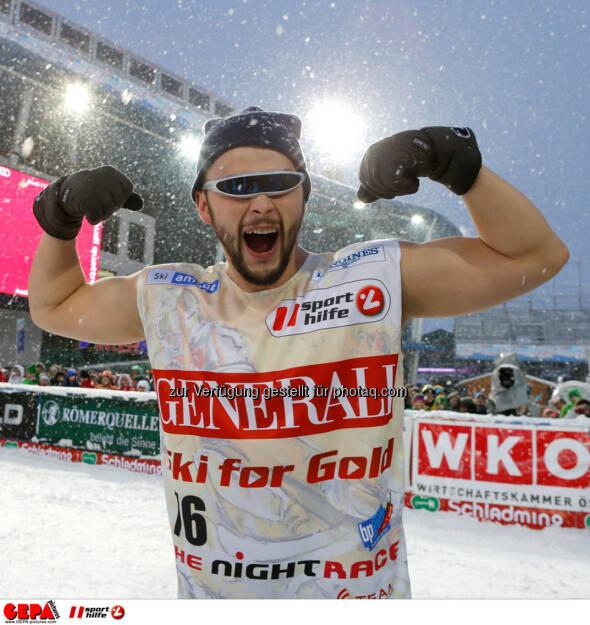 Sporthilfe Charity Race. Bild zeigt Saenger Lukas Ploechl (Trackshittaz). Foto: GEPA pictures/ Wolfgang Grebien, © GEPA/Sporthilfe (27.01.2014)