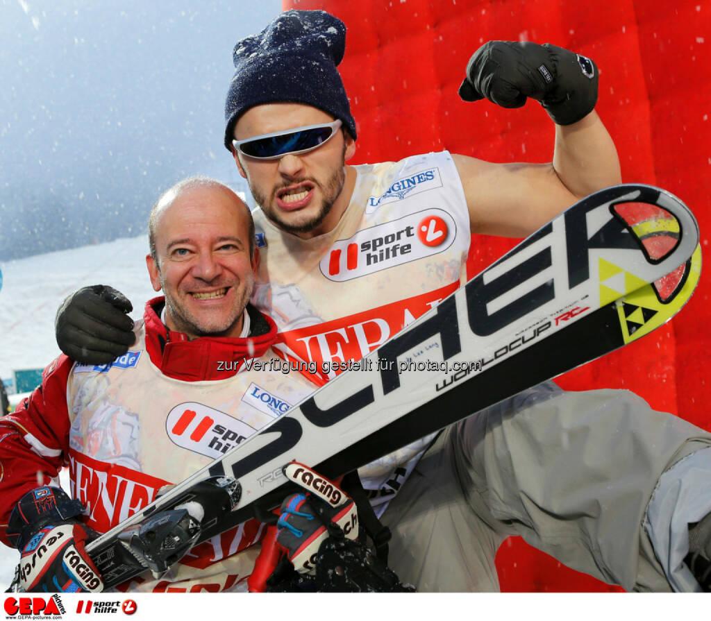 Sporthilfe Charity Race. Bild zeigt Andy Lee Lang und Lukas Ploechl (Trackshittaz). Foto: GEPA pictures/ Wolfgang Grebien, © GEPA/Sporthilfe (27.01.2014)