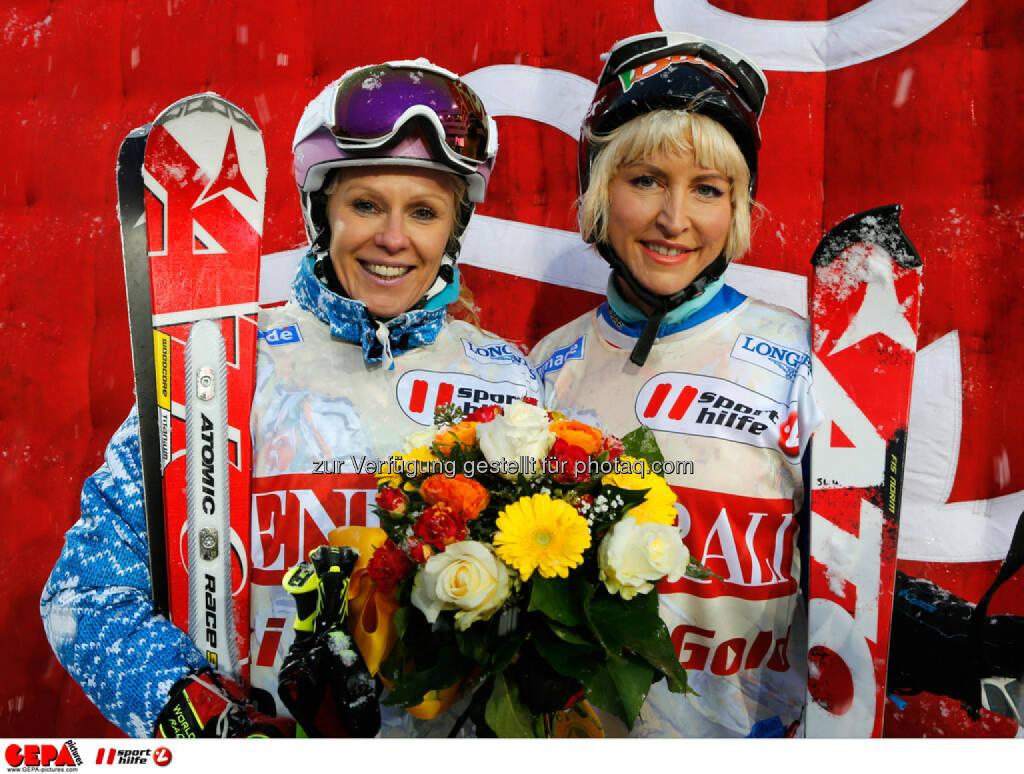 Sporthilfe Charity Race. Bild zeigt Ulrike Kriegler und Heather Mills. Foto: GEPA pictures/ Wolfgang Grebien, © GEPA/Sporthilfe (27.01.2014)