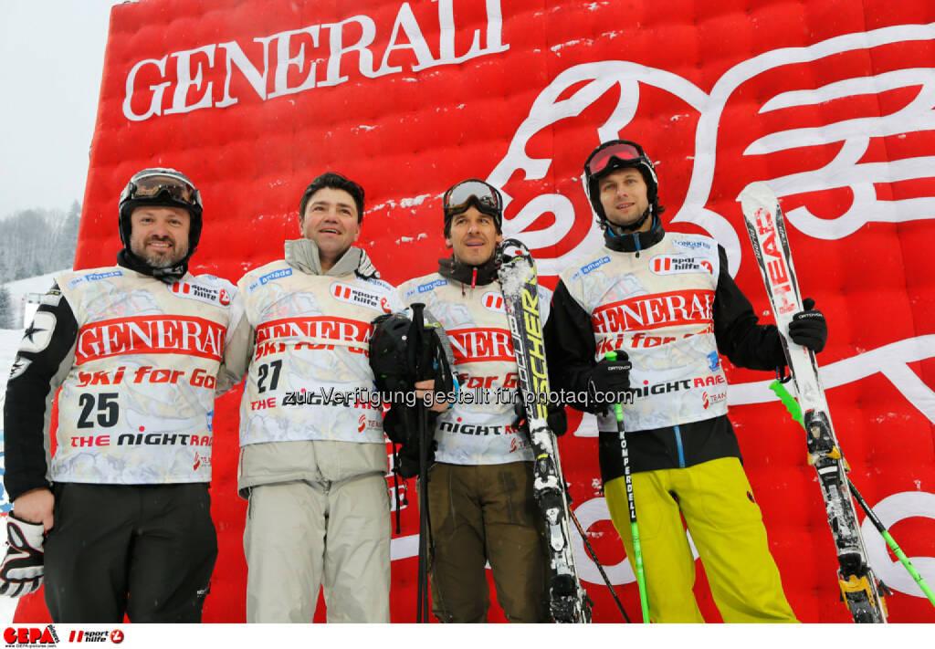 Sporthilfe Charity Race. Bild zeigt Karl Hans Polzhofer, Manfred Jaeger, Killian Albrecht und Clemens Lassmann (Team KAPO). Foto: GEPA pictures/ Wolfgang Grebien, © GEPA/Sporthilfe (27.01.2014)