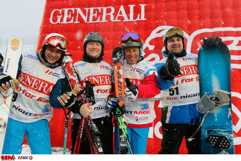 Sporthilfe Charity Race. Bild zeigt Christian Kohl, Alexander Lerch, Hans Enn und Walter Burian (Team Samsung). Foto: GEPA pictures/ Wolfgang Grebien, © GEPA/Sporthilfe (27.01.2014)