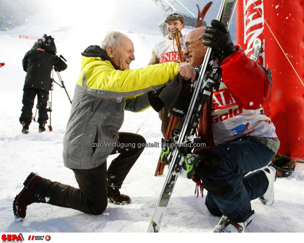 Sporthilfe Charity Race. Bild zeigt Charly Kahr und Otto Retzer. Foto: GEPA pictures/ Harald Steiner, © GEPA/Sporthilfe (27.01.2014)