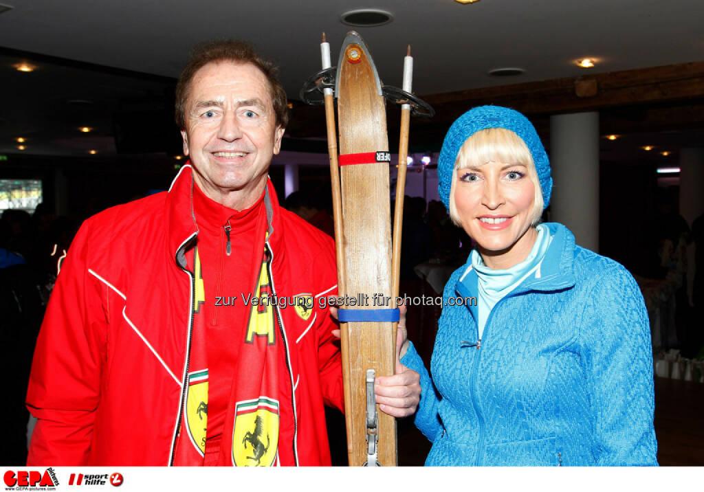 Sporthilfe Charity Race. Bild zeigt Heribert Kasper und Heather Mills. Foto: GEPA pictures/ Harald Steiner, © GEPA/Sporthilfe (27.01.2014)