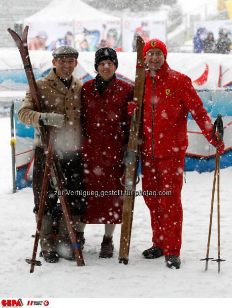 Sporthilfe Charity Race. Bild zeigt Gerry Jaeckel und Heribert Kasper. Foto: GEPA pictures/ Harald Steiner, © GEPA/Sporthilfe (27.01.2014)