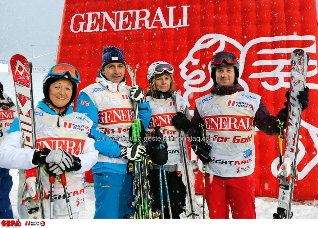 Sporthilfe Charity Race. Bild zeigt Marianne Thaler, Reinhold Zitz, Andrea Praster und Roman Kliment (Team Ski for Gold IV). Foto: GEPA pictures/ Wolfgang Grebien, © GEPA/Sporthilfe (27.01.2014)