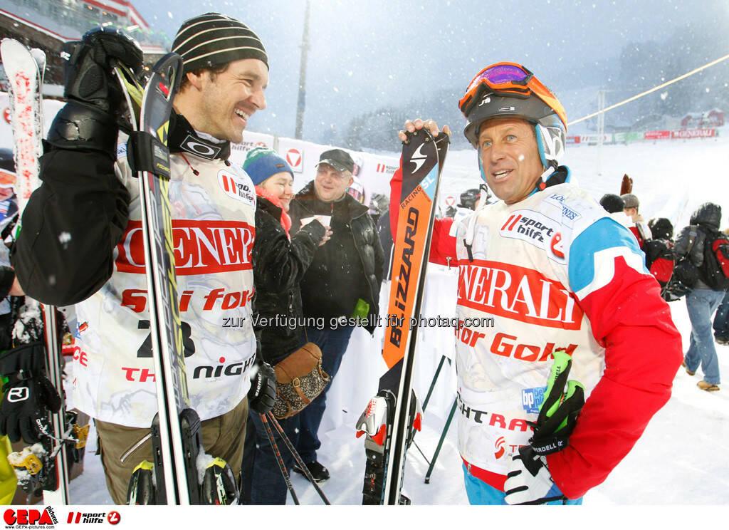 Sporthilfe Charity Race. Bild zeigt Kilian Albrecht und Hans Enn. Foto: GEPA pictures/ Harald Steiner, © GEPA/Sporthilfe (27.01.2014)
