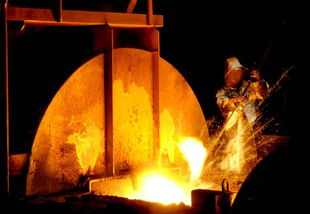 Abstich am Hochofen, ThyssenKrupp AG, (© ThyssenKrupp AG, http://www.thyssenkrupp.com/de/presse/bilder.html&photo_id=886), © ThyssenKrupp AG (28.01.2014)