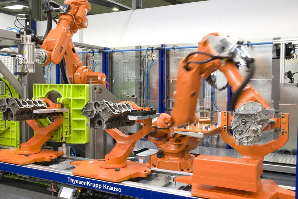 Flexible Montageanlage, (© ThyssenKrupp AG, http://www.thyssenkrupp.com/de/presse/bilder.html&photo_id=1243), © ThyssenKrupp AG (28.01.2014)