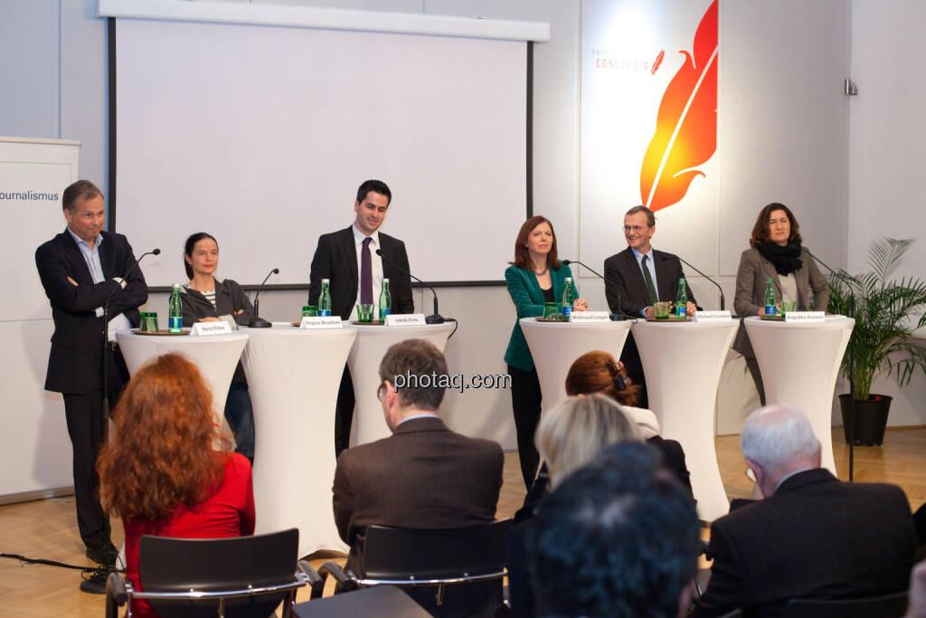 Horst Pirker, Regina Bruckner, Jakob Zirm, Waltraud Langer, Michael Csoklich, Angelika Kramer, © Michaela Mejta für finanzmarktfoto.at (30.01.2014)