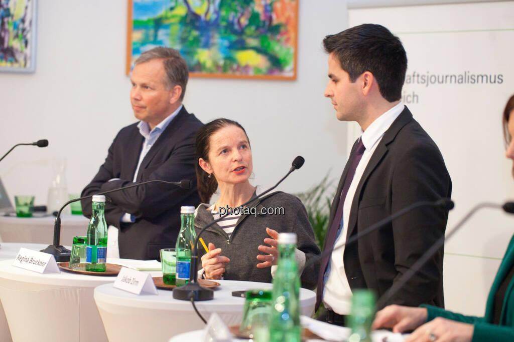 Horst Pirker, Regina Bruckner, Jakob Zirm, © Michaela Mejta für finanzmarktfoto.at (30.01.2014)