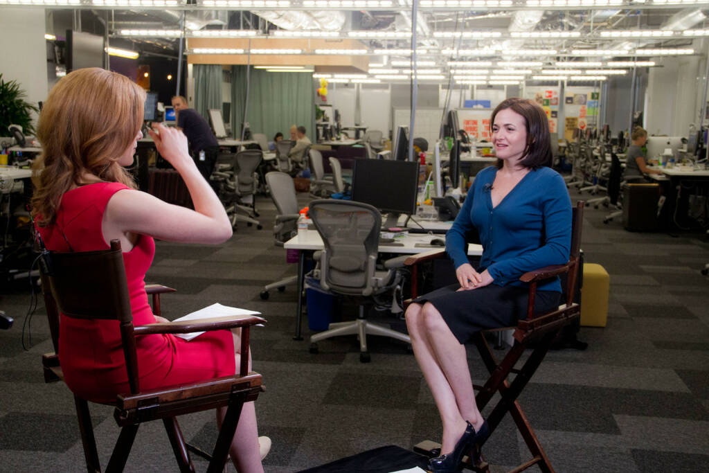Sheryl Sandberg (facebook) interviewed on CNBC, © facebook (homepage) (31.01.2014)
