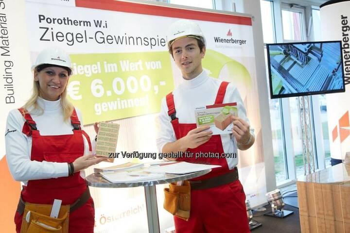 Wienerberger auf der Tiroler Hausbau & Energie Messe in Innsbruck. Mehr als 200 Aussteller präsentieren die neuesten Trends rund ums Planen, Bauen, Sanieren und Finanzieren (c) Wienerberger