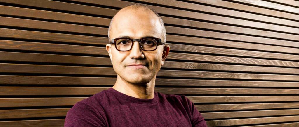 Satya Nadella, CEO Microsoft Corp., © Microsoft Corp. (Homepage) (04.02.2014)