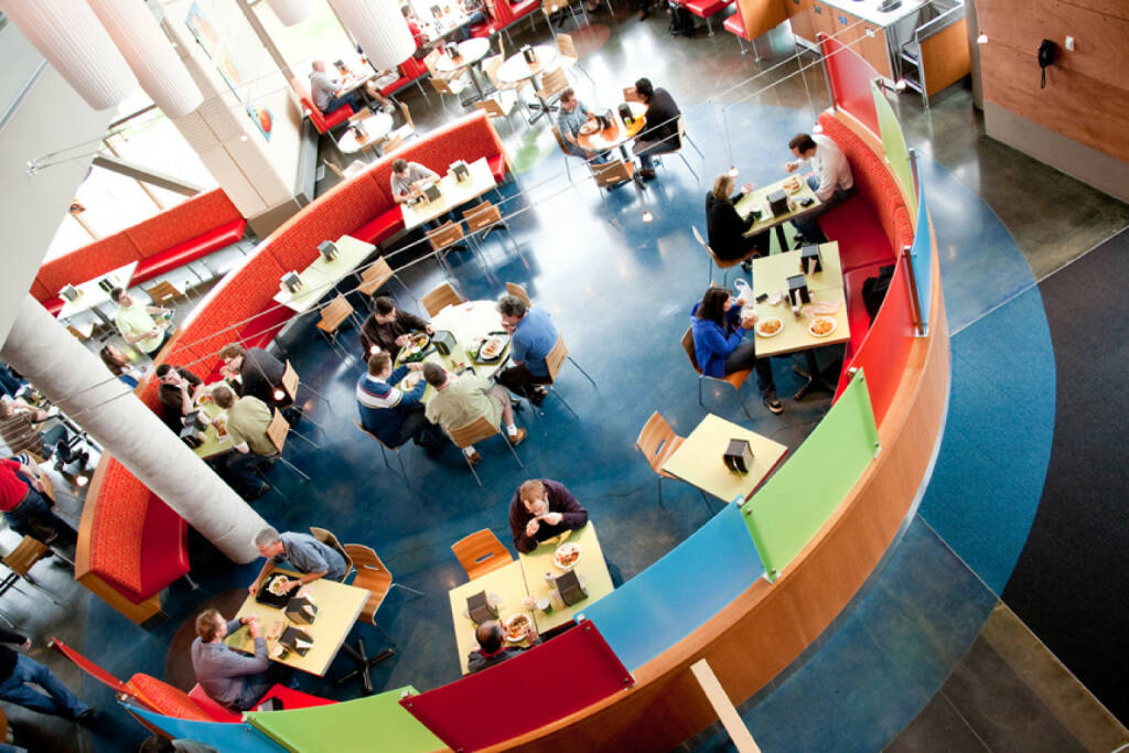 Cafeteria area in The Commons destination on the Microsoft Redmond Campus, (C) In-s-t-y-l-e.com, © Microsoft Corp. (Homepage) (04.02.2014)