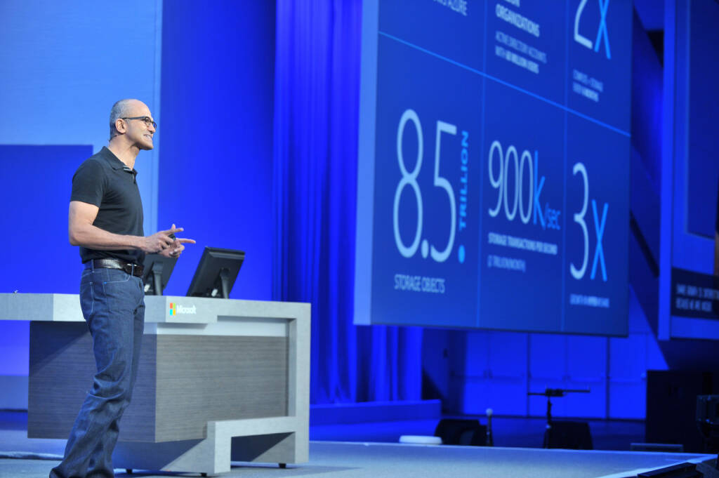 Satya Nadella, CEO Microsoft Corp. (C) Joe Malinao, © Microsoft Corp. (Homepage) (04.02.2014)