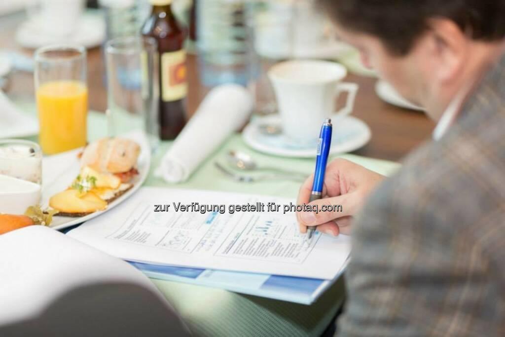 Mitschrift, Kugelschreiber, © Erste-Sparinvest (05.02.2014)