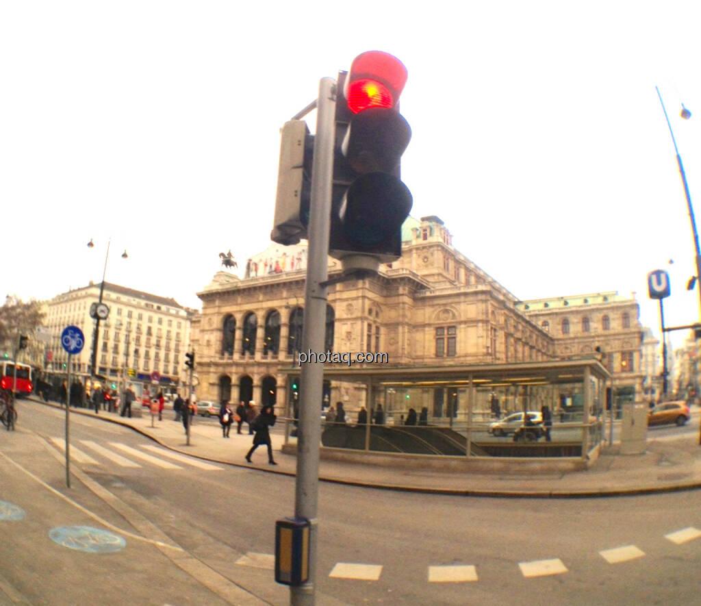 Rote Ampel, Staatsoper, Stopp (05.02.2014)