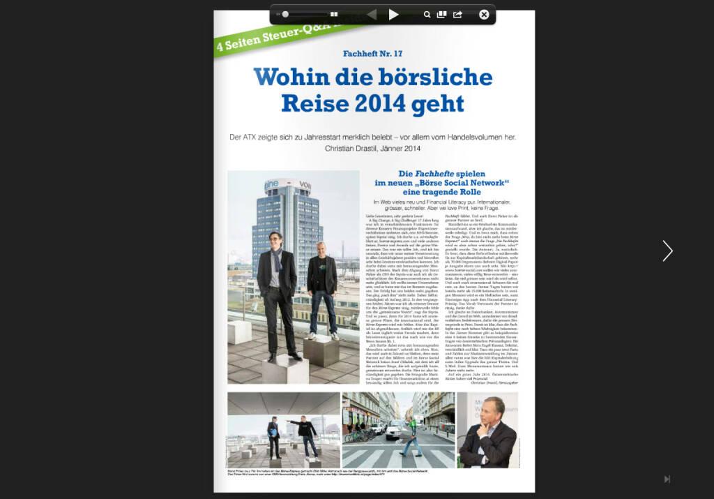 Fachheft 17, Seite 1: Wohin die börsliche Reise 2014 geht (05.02.2014)