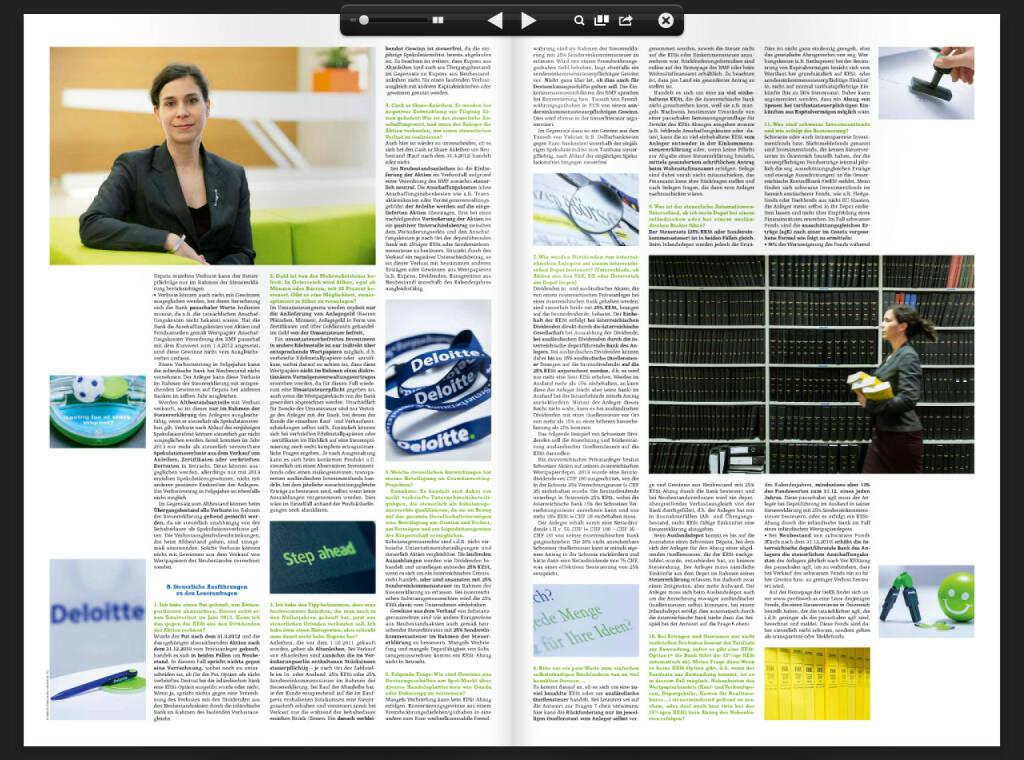Fachheft 17, Seiten 4 und 5: Nora Engel (Deloitte) beantwortet Steuerfragen (05.02.2014)