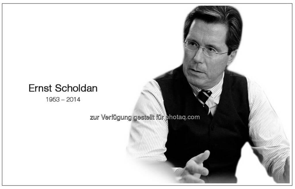 Trauer um Ernst Scholdan (c) Einstiegsseite www.scholdan.com (08.02.2014)