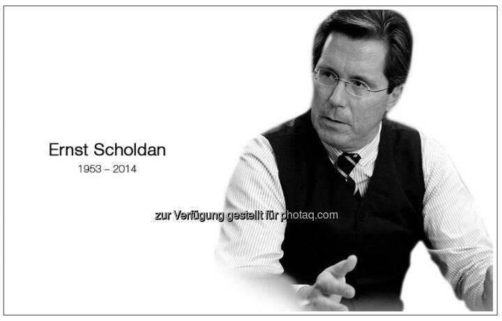 Trauer um Ernst Scholdan (c) Einstiegsseite www.scholdan.com