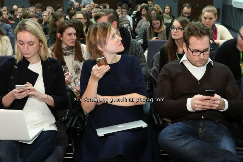 Handy, News - Monika Thomasberger, Ines Sieder, Katharina Lehner, Benjamin Ruschin, Katja Hentschel (Bild: Katharina Schiffl) (10.02.2014)