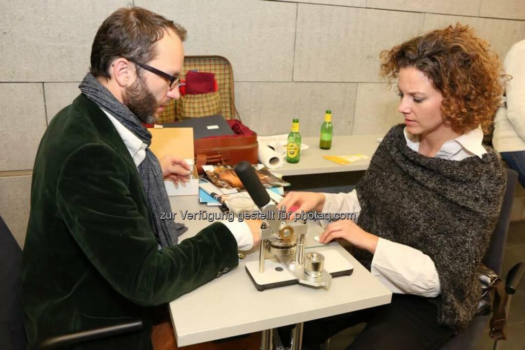 Leo Sauermann, Sabine Hoffmann (Bild: Katharina Schiffl) (10.02.2014)