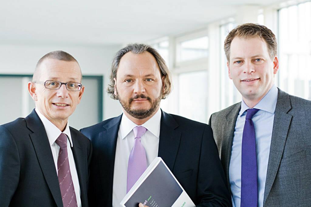 Joachim Preisig (Vorstand freenet AG), Christoph Vilanek (CEO freenet AG), Stephan Esch (Vorstand freenet AG), © freenet AG (Homepage) (10.02.2014)
