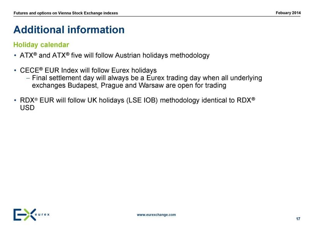 Additional information, © eurexchange.com (11.02.2014)