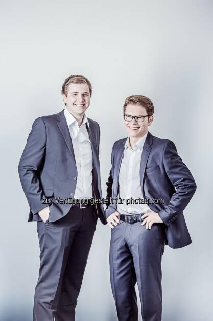 Peter Garber, Wolfgang Deutschmann, Geschäftsführer der Green Rocket GmbH: Green Rocket konnte  mit seinem neuesten Projekt Quantum Voltaics in weniger als 34 Stunden die Fundingschwelle von 50.000 Euro erreichen. Copyright Kubiza, © Aussendung (11.02.2014)