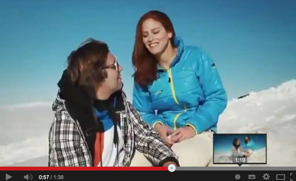 Jackie Chamoun und die freizügige Werbung für Kästle: Die libanesische Ski-Rennläuferin, die in der Schweiz trainiert, ist via Youtube und Hohenlohe-Interview ein Aufreger im eigenen Land http://www.youtube.com/watch?v=TBahJqYe4oQ (13.02.2014)