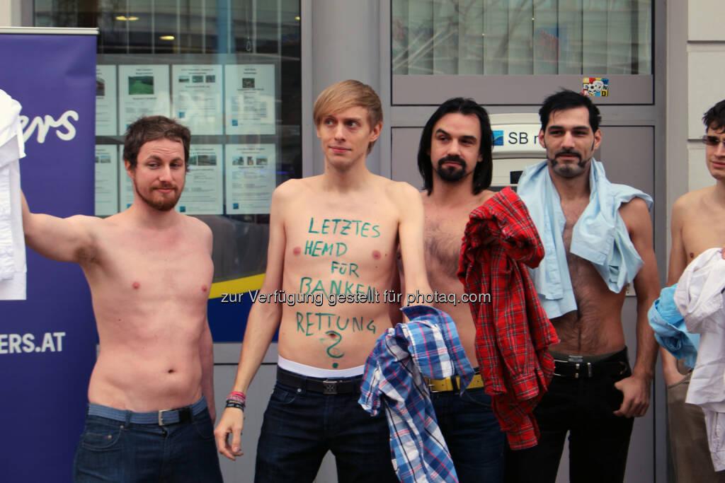Wir geben unser letztes Hemd für die Banken-Rettung, © EuropaAnders (13.02.2014)
