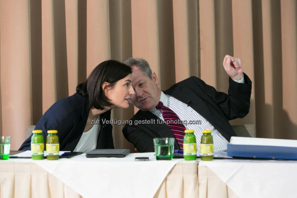 Birgit Noggler, CFO Immofinanz, Eduard Zehetner, CEO Immofinanz, © Martina Draper für Immofinanz (13.02.2014)